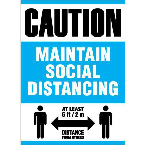 CAUTION SOCIAL DIST. 14