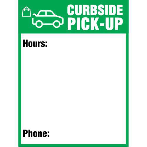 CURBSIDE PICKUP SIGN 24X32 COROPLAST