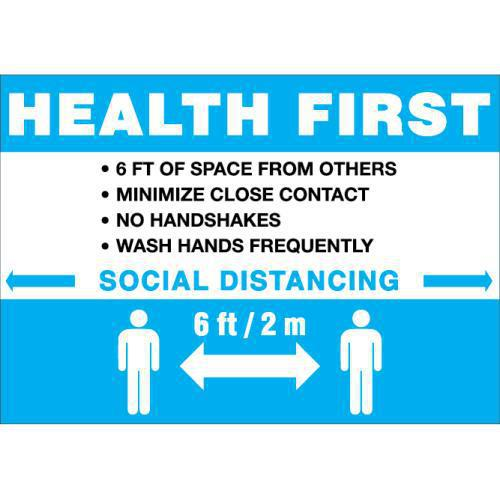 HEALTH FIRST SIGN 7X10 STY