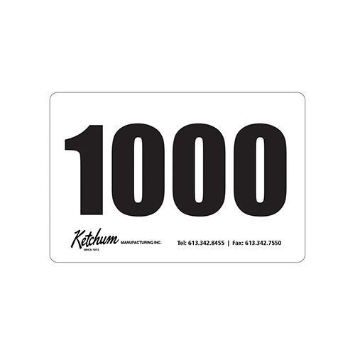 AUCTION STICKERS 1000/PER