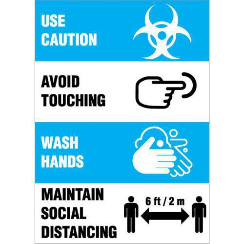 PRECAUTION DECAL 14X10 STATIC CLING