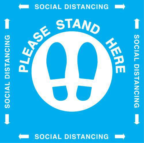 STAND HERE DECAL 20X20 VINYL